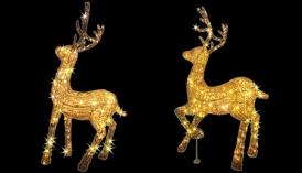 Олень Золотой LED 3D Фигура