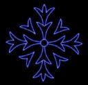 Гирлянда Мотив Снежинка Кварц LED синий  80см