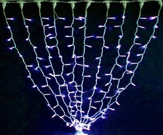 Гирлянда DELUX STALACTITES 1,0х3,0 (одинарный сталактит) LED синий,кабель белый