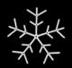 Гирлянда Мотив Снежинка Аквамарин белая 80*80см
