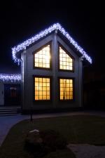 Гирлянда DELUX ICICLE 2x0,7м Flash  (Мерцающий Сталактит) LED белый