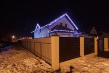 Иллюминация загородного дома Белогородка, 2015