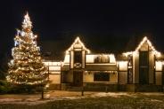 Праздничная иллюминация загородного дома и елки - Козин, 2016