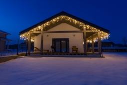 Новогодняя иллюминация загородного дома Осыково