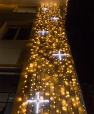 Световые мотивы: снежинки, звезды, подарки, конфеты