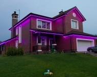 Контурная подсветка зданий