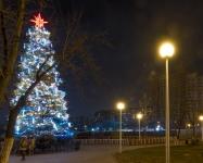 Иллюминация городской елки