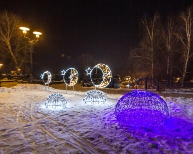 Светящиеся объемные 3D шары и сферы