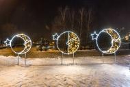 Світлові мотиви: сніжинки, верхівки, консолі, кулі