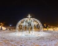 Иллюминация городского парка, Киев