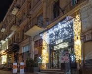 Уличное оформление ресторана Lviv Croissants, Бессарабка Киев