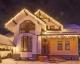 Оформление гирляндами фасада частного дома, Ирпень