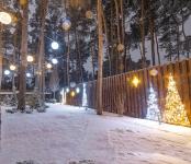 Иллюминация сферами и мотивами парка OTP Лизинг, Киев