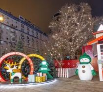 Святкова ілюмінація дерев, «Містечко зимових розваг» Палац Україна