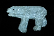 Световая акриловая фигура 3D «Белый медведь» 100 см