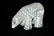 Световая акриловая фигура 3D «Белый медведь» 40 см