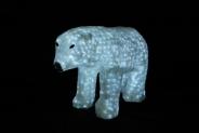 Световая акриловая фигура 3D «Белый медведь» 60 см