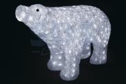 Световая акриловая фигура 3D «Белый медведь» 80 см