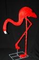 Световая акриловая фигура 3D «Фламинго красный» 95 см