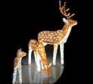 Световая акриловая фигура 3D «Олень коричневый» 67 см