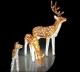 Световая акриловая фигура 3D «Олень коричневый» 70 см