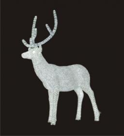 Световая акриловая фигура 3D «Олень белый» 170 см