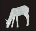 Световая акриловая фигура 3D «Олень белый» 70 см