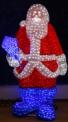 Световая акриловая фигура 3D «Санта Клаус» 160 см