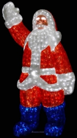 Световая акриловая фигура 3D «Санта Клаус» 210 см