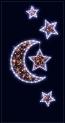 Световая конструкция Луна и звезды ST-20