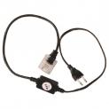 Силовой кабель с вилкой для дюралайта LED 3-х полюсного