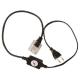 Силовой кабель с вилкой для дюралайта LED 4-х полюсного