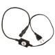 Силовой кабель с вилкой для дюралайта LED 2-х полюсного