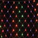 Гирлянда NET 2,5x1м (Сетка) 184 ламп мульти, кабель - прозрачный
