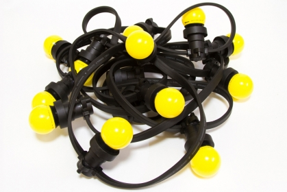 Гирлянда BRIGHTLED BELT LIGHT Е27, шаг ламп - 40см, кабель - чёрный