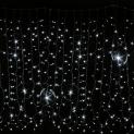 Гирлянда DELUX Curtain Digital 2x2 LED с встроенным контроллером белая, кабель - прозрачный