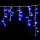 Гирлянда Flash DELUX ICICLE 2x0,9м (Мерцающий Сталактит) 126LED 40flash синяя
