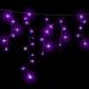 Гирлянда DELUX ICICLE 2x0,9м (Сталактит) LED фиолет