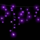 Гірлянда DELUX ICICLE 2x0,5м (Сталактит) LED фіолет