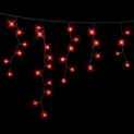 Гирлянда DELUX ICICLE 2x0,9м (Сталактит) LED красный