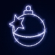 Гирлянда Мотив Сhristmas Ball & Star