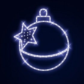 Гирлянда Мотив Сhristmas Ball & felled Star