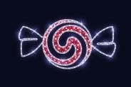 Гирлянда Мотив  Candy Spiral