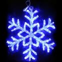 Гирлянда Мотив Ледяная Снежинка Акриловая синяя 40см