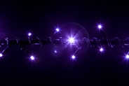 Гирлянда BRIGHTLED String FLASH (флеш нить, стробоскоп) LED DIAMOND TOTAL FLASH фиолет