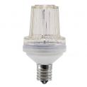 Стробоскоп LED светодиодный цоколь Е27 яркий 12LED прозрачный