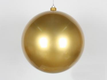 Шар пластиковый 20 см, золотой