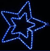Гирлянда Мотив Звезда синяя 58см