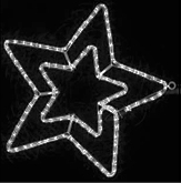Гирлянда Мотив Звезда белая 58см