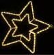 Гирлянда Мотив Звезда желтая 58см